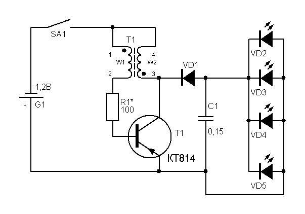 Электрическая схема фонаря эра 473
